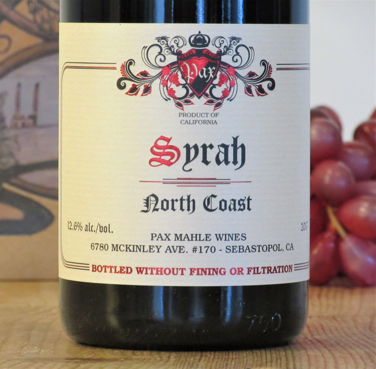 Pax Mahle North Coast Syrah