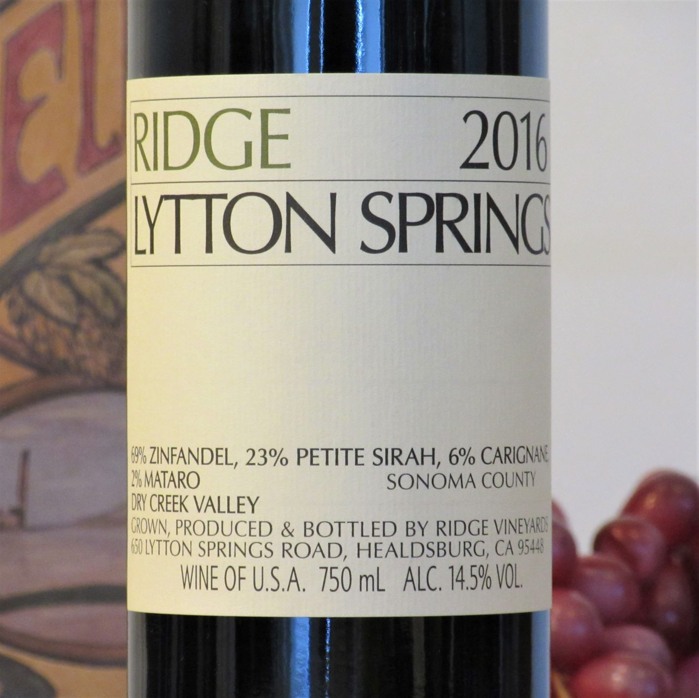 Ridge Lytton Springs 2016