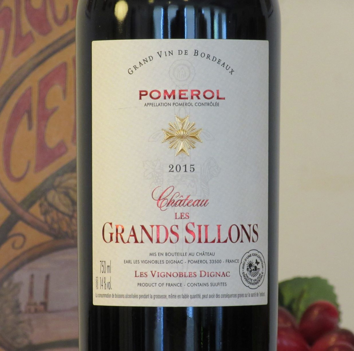 Chateau Les Grands Sillons Pomerol 2015