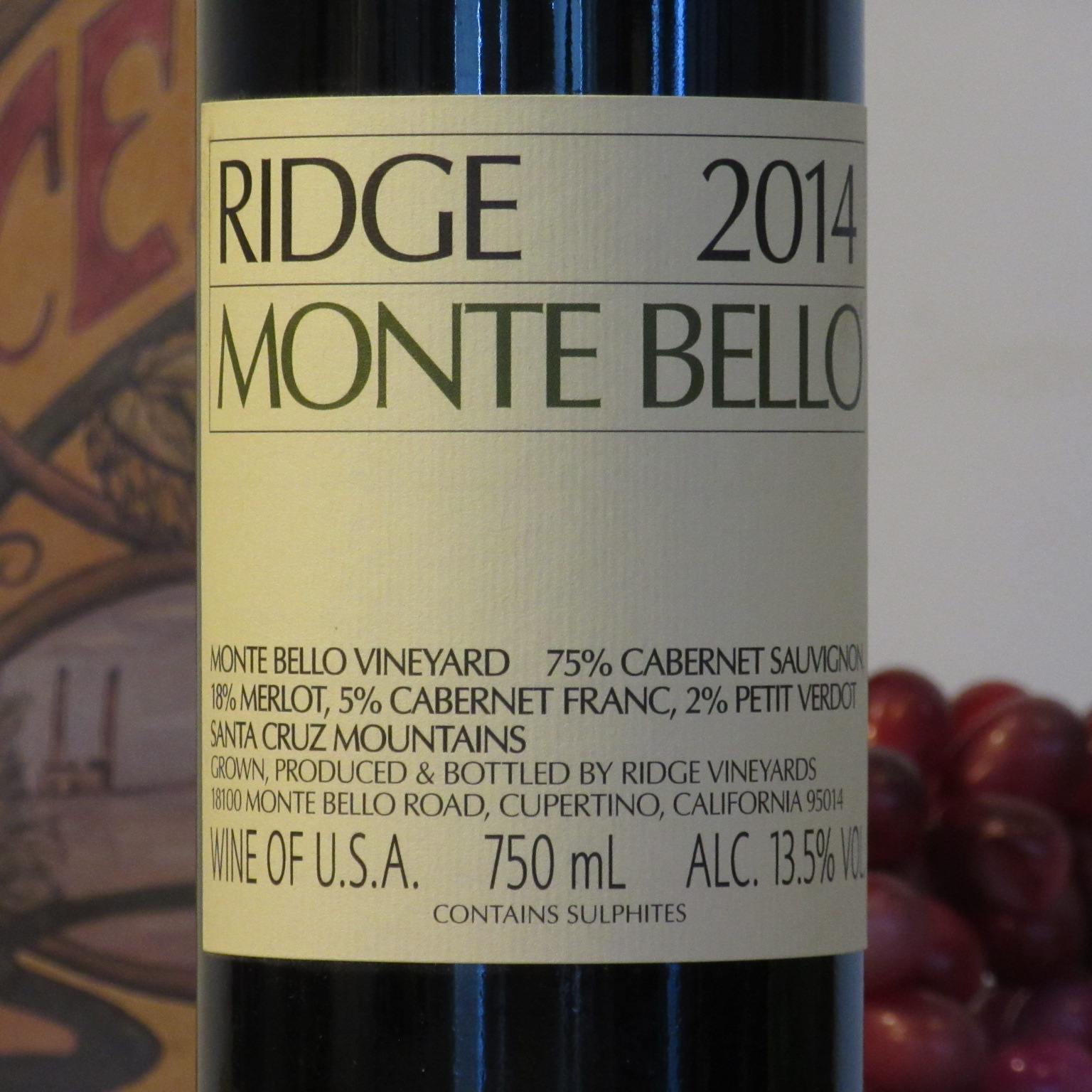 Ridge Monte Bello 2014