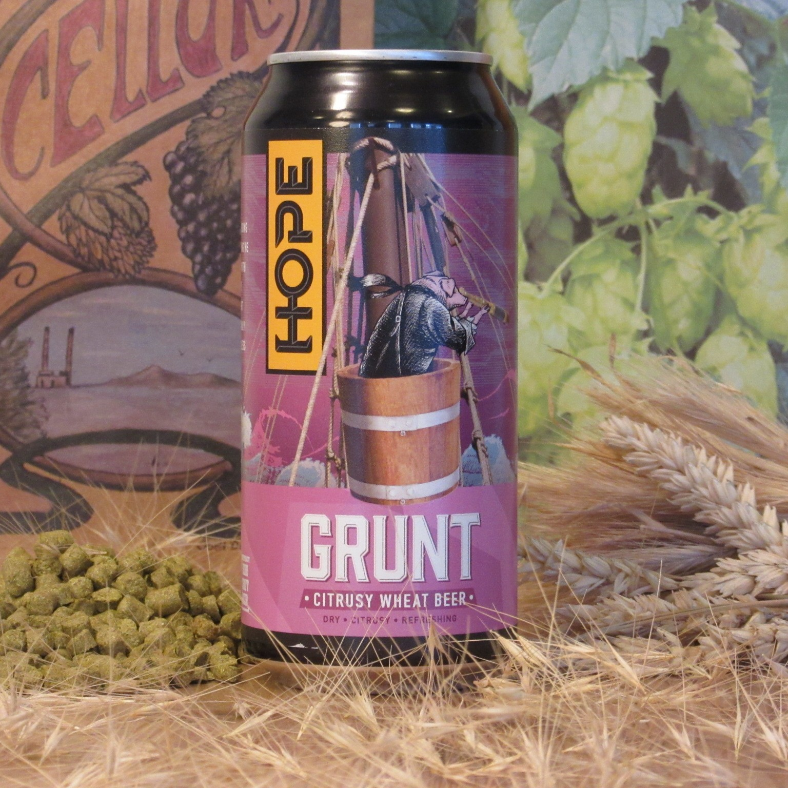Hope Grunt Citrusy Wheat Beer