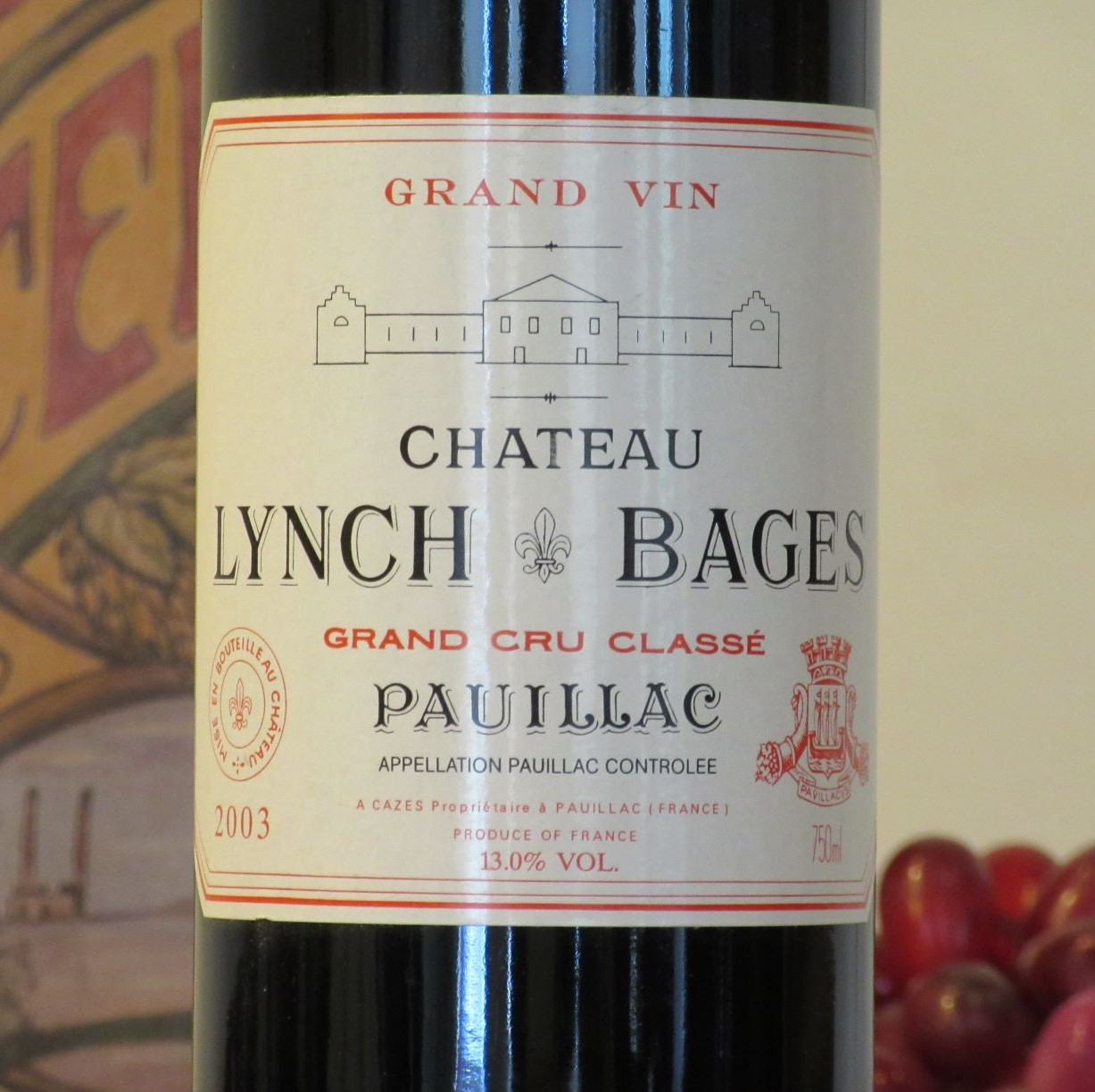 Chateau Lynch Bages Pauillac 2003
